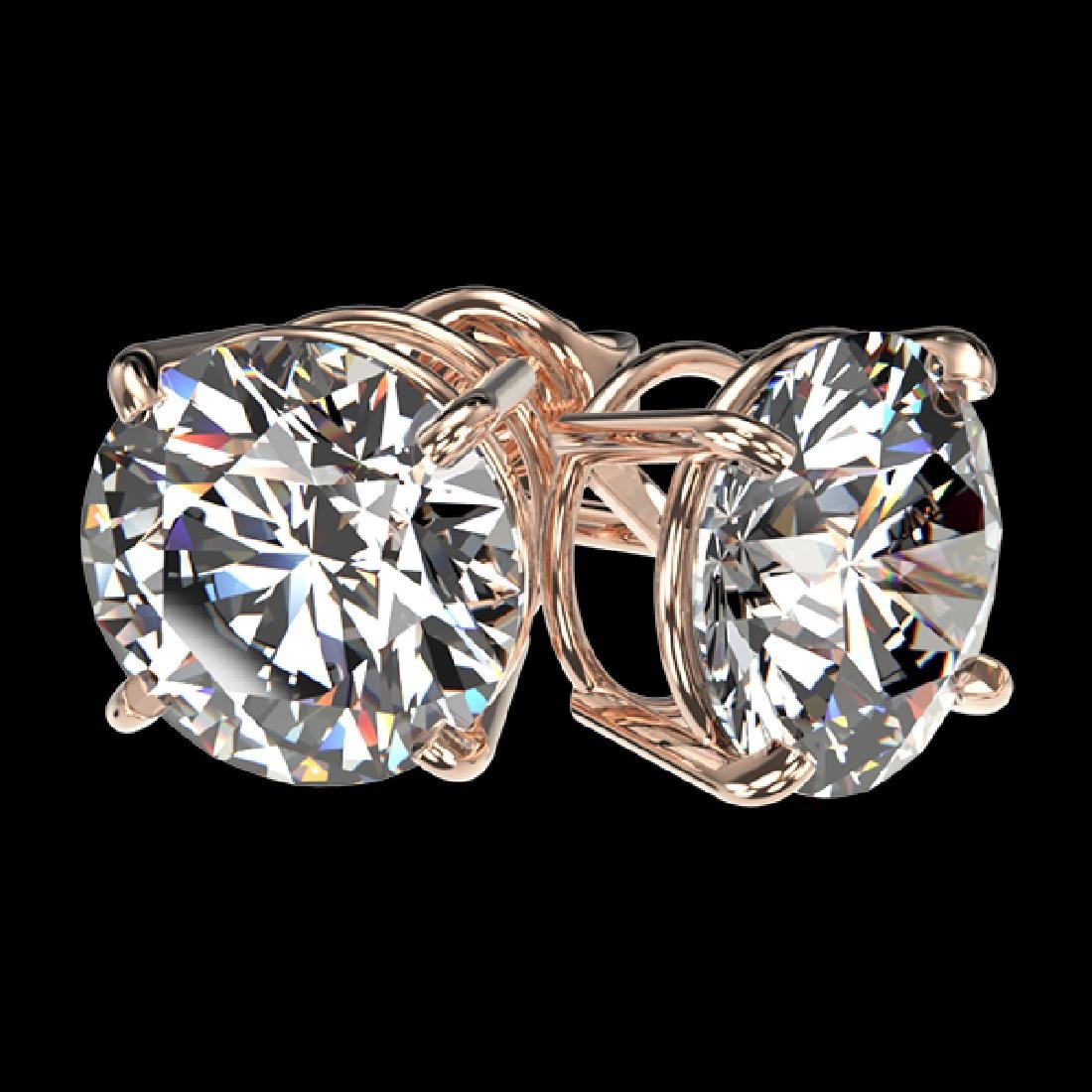 3.05 CTW Certified H-I Quality Diamond Solitaire Stud - 3