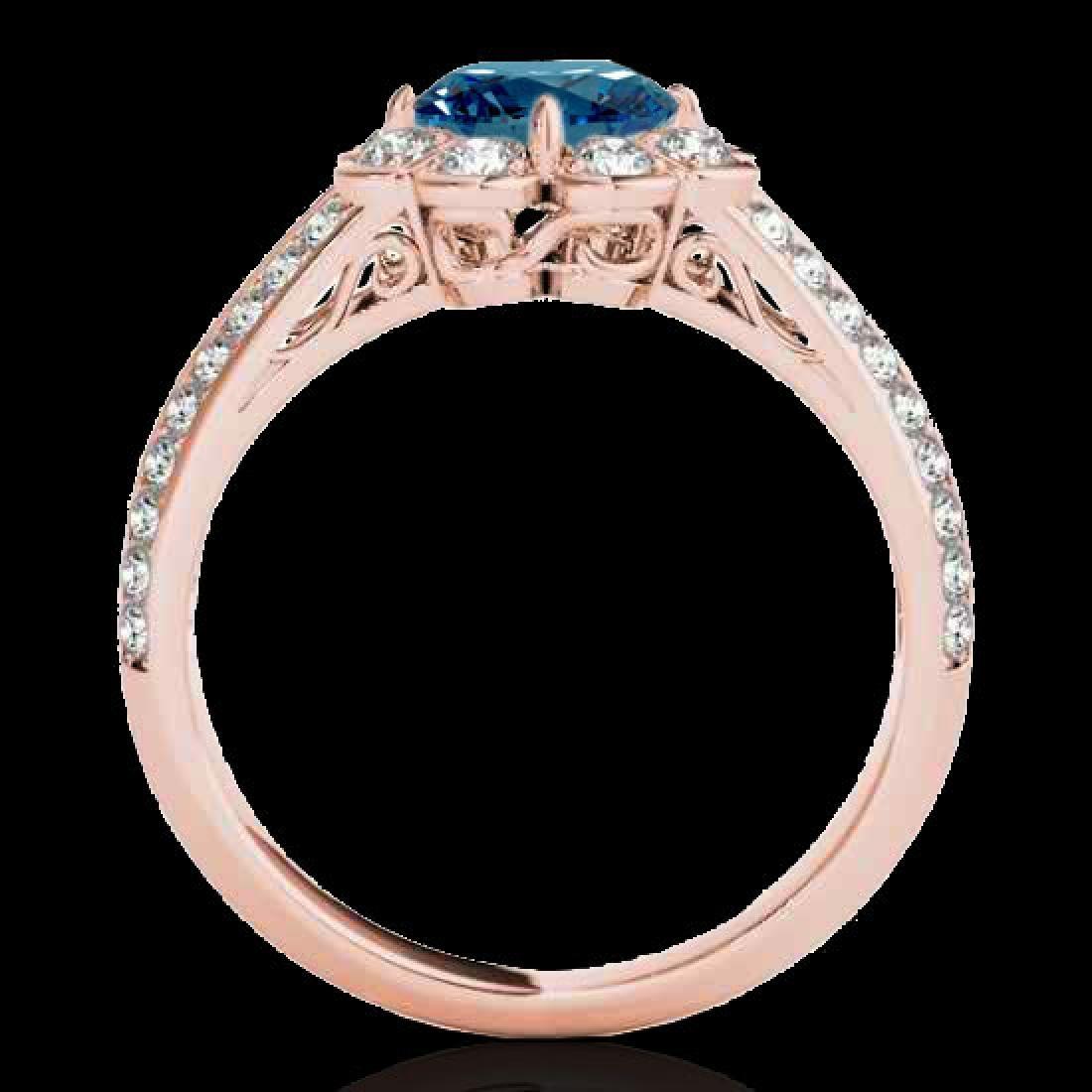 2.05 2.05 CTW SI Certified Fancy Blue Diamond Solitaire - 2