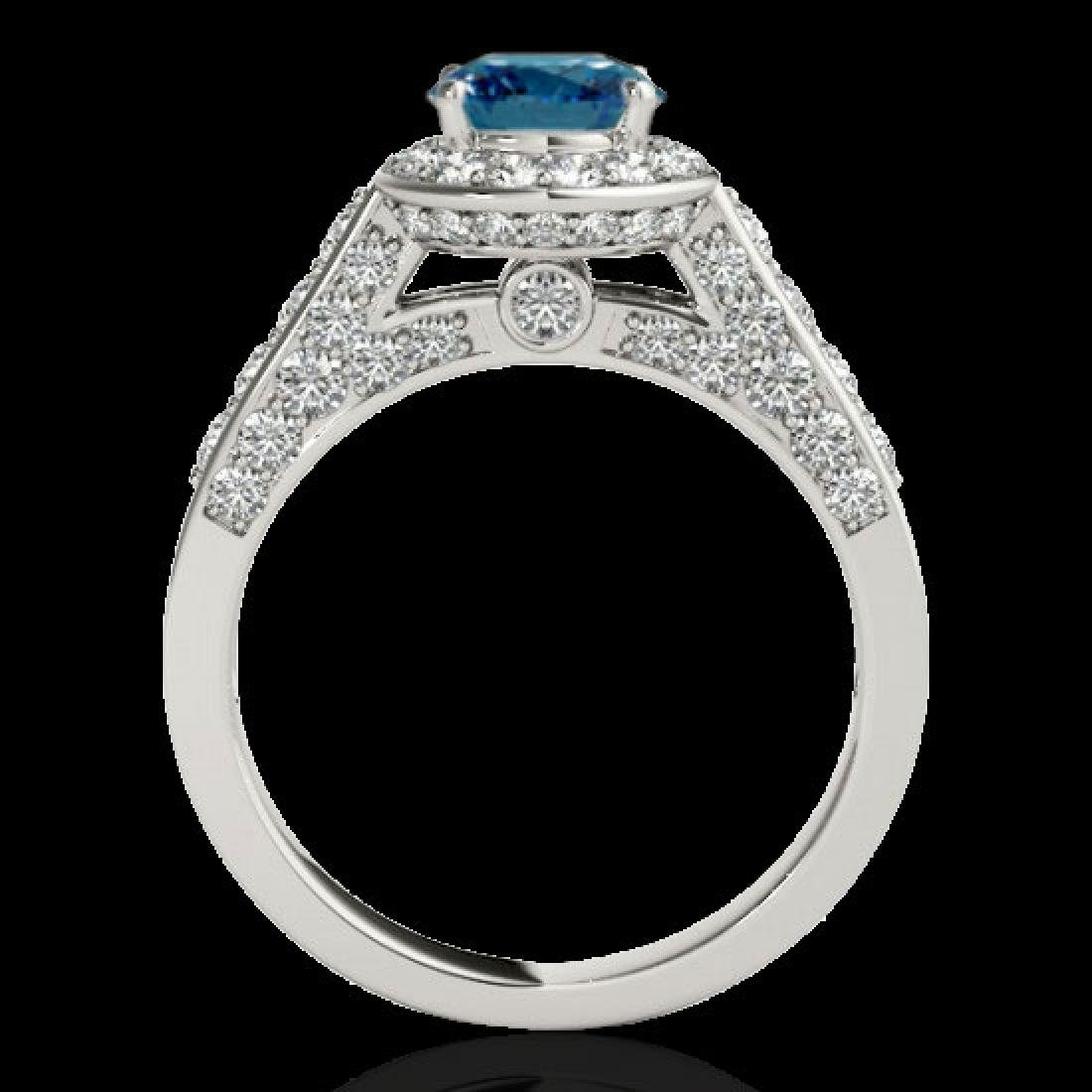 2.56 CTW SI Certified Fancy Blue Diamond Solitaire Halo - 2