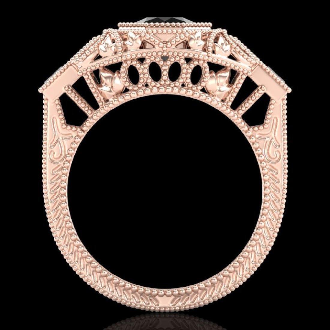 1.13 CTW Fancy Black Diamond Solitaire Engagement Art - 3