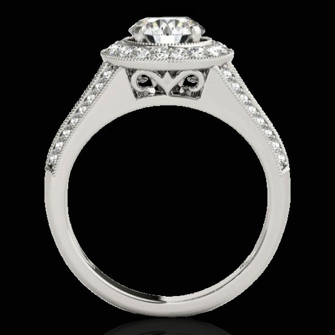 2.17 CTW H-SI/I Certified Diamond Solitaire Halo Ring - 2