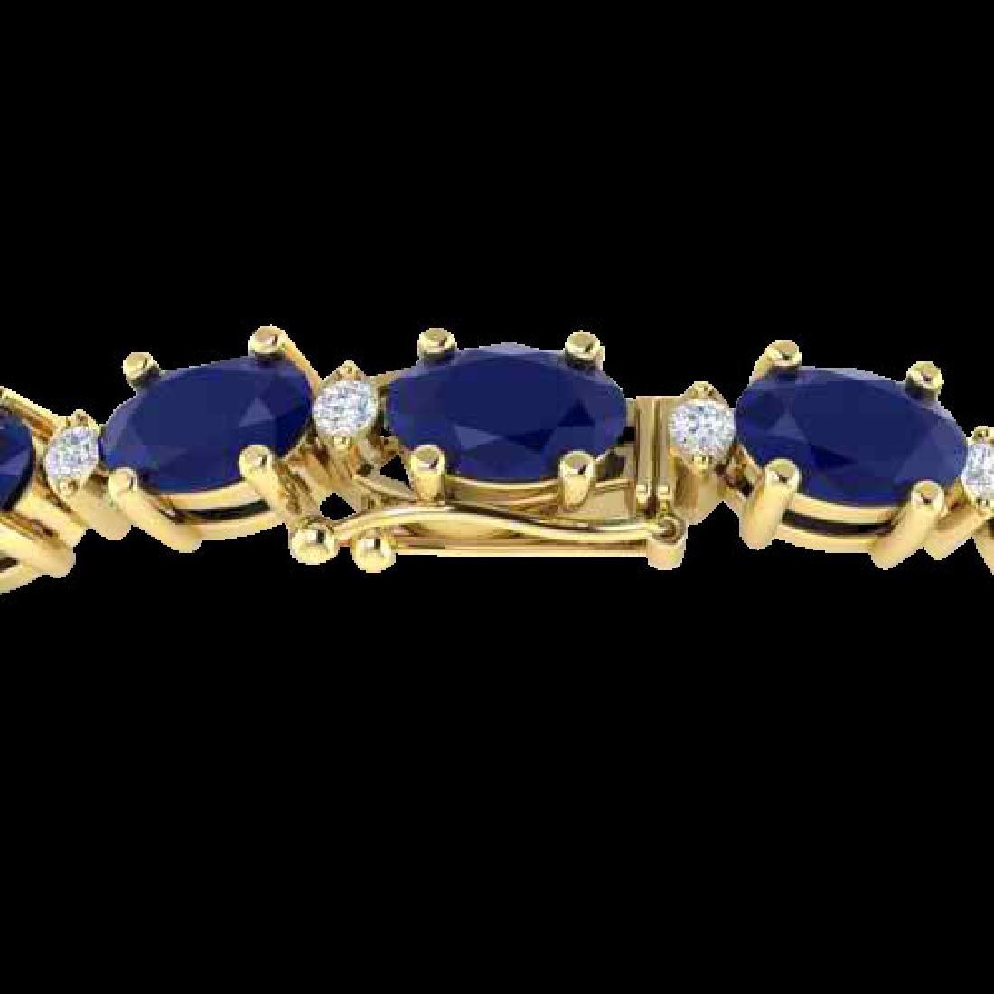 30.8 CTW Sapphire & VS/SI Certified Diamond Eternity