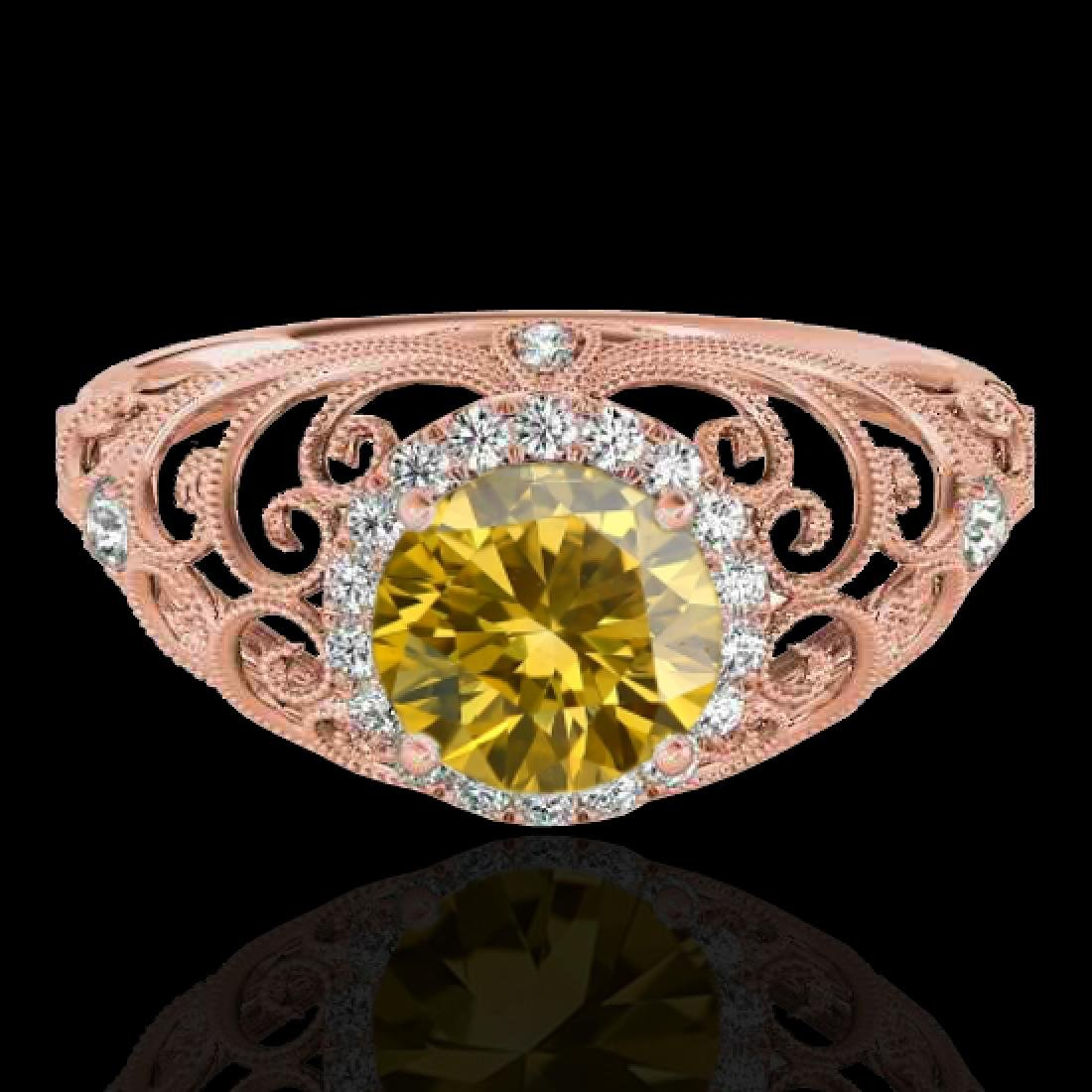 1.22 CTW Certified SI/I Fancy Intense Yellow Diamond