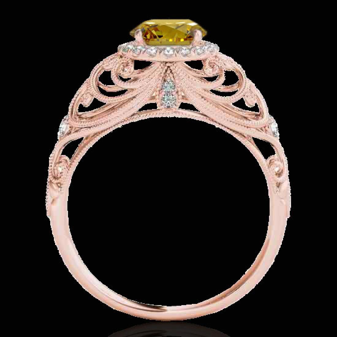 1.22 CTW Certified SI/I Fancy Intense Yellow Diamond - 2