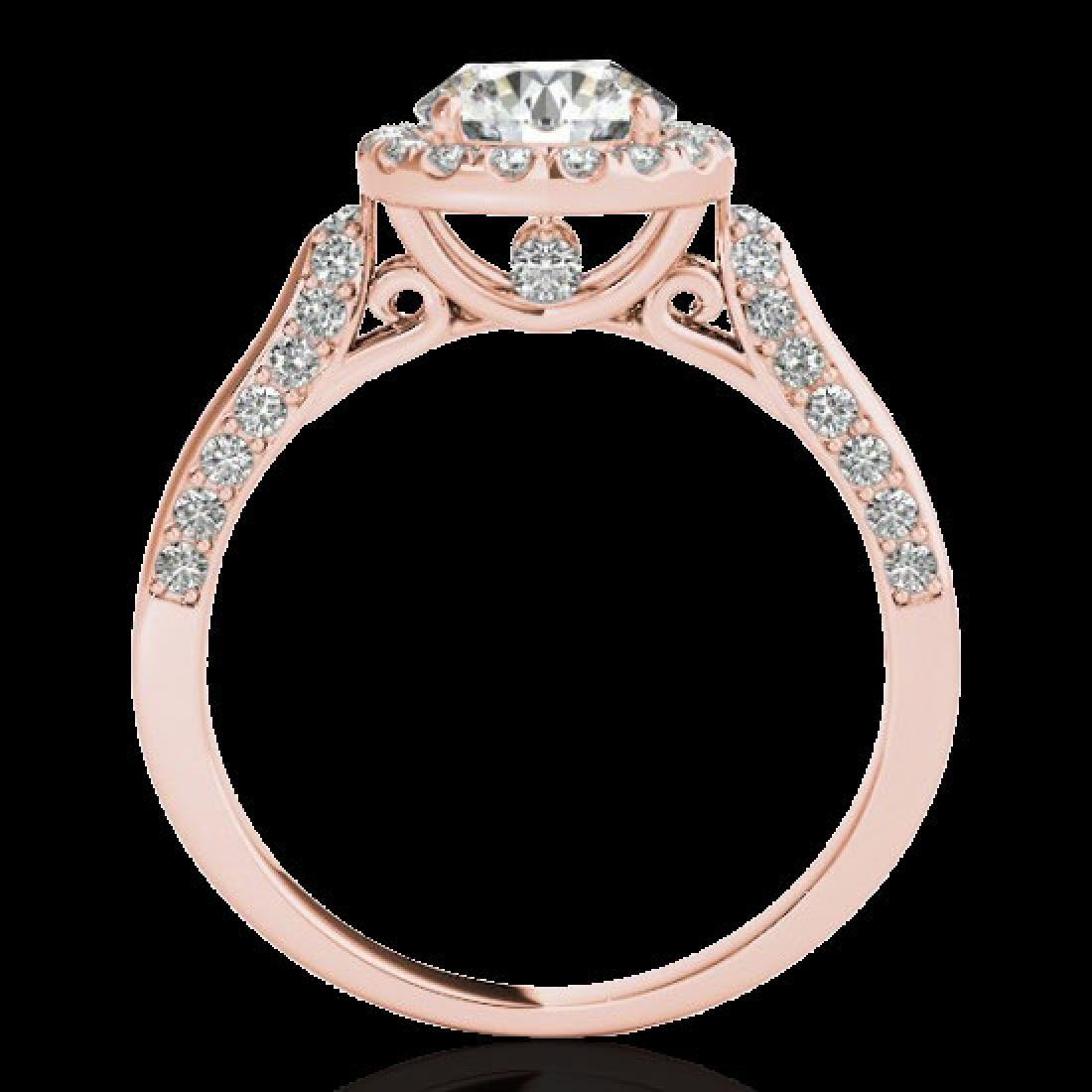 2.15 CTW H-SI/I Certified Diamond Solitaire Halo Ring - 2
