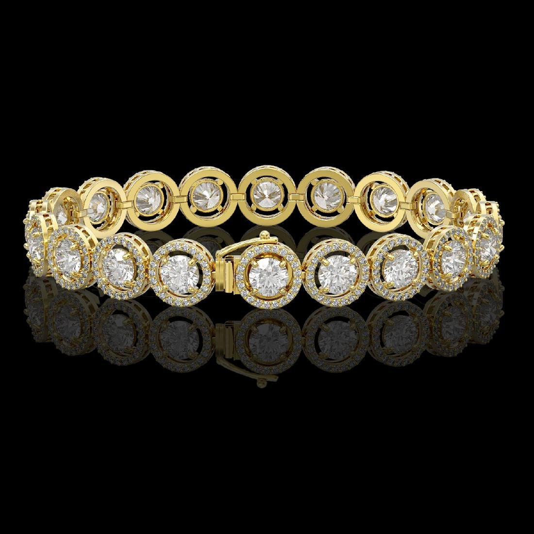 13.42 CTW Diamond Designer Bracelet 18K Yellow Gold - 2