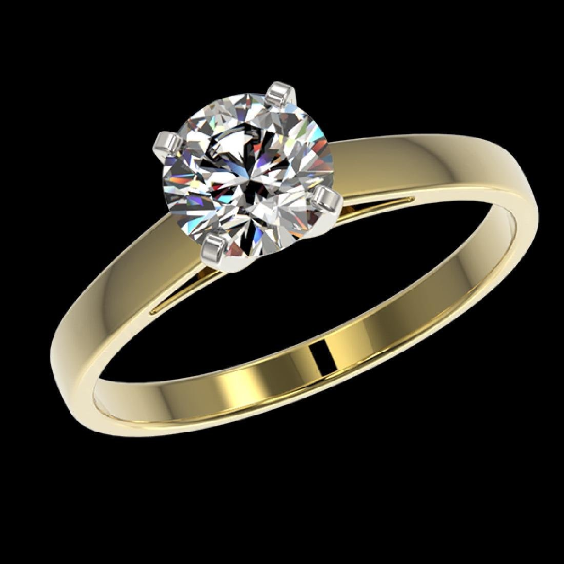 0.97 CTW Certified H-SI/I Quality Diamond Solitaire - 2