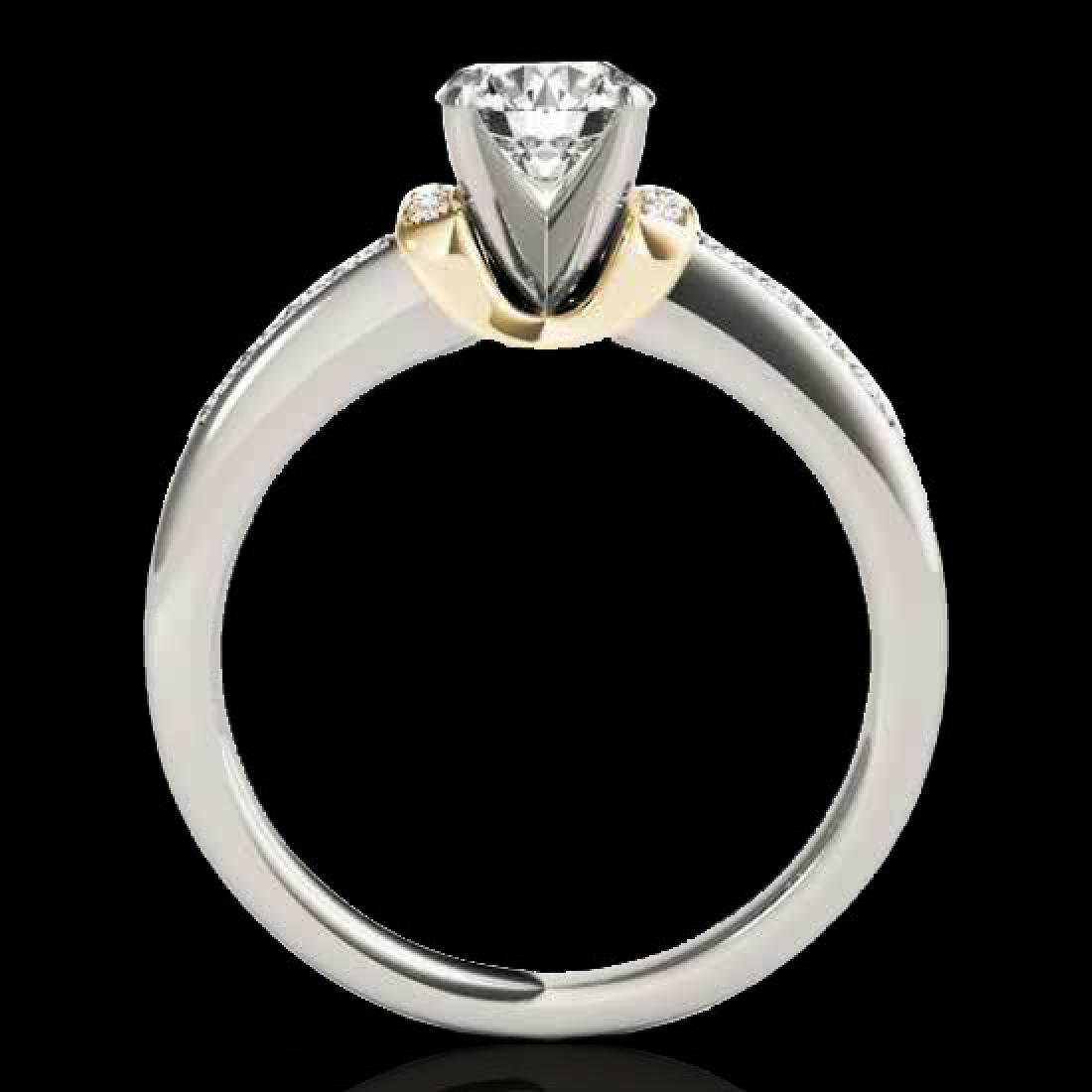 1.11 CTW H-SI/I Certified Diamond Solitaire Ring 10K - 2