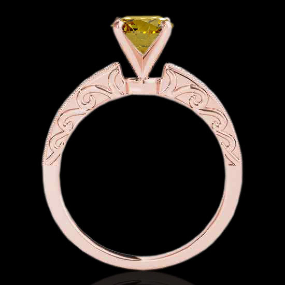 1.18 CTW Certified Si Intense Yellow Diamond Solitaire - 2