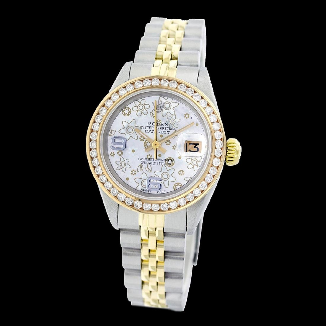 Rolex Ladies Two Tone 14K Gold/SS, Arabic Dial with - 2