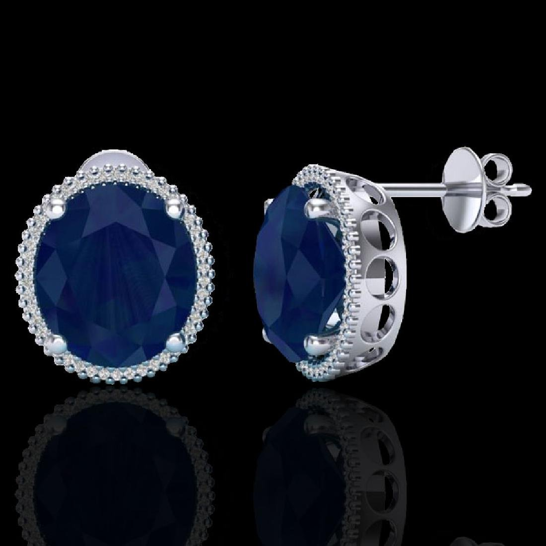 25 CTW Sapphire & Micro Pave VS/SI Diamond Halo - 2