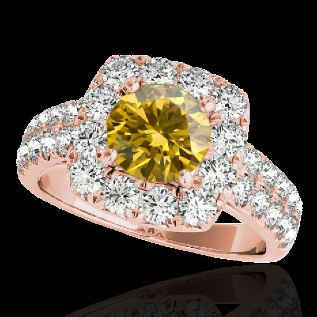 2.5 CTW Certified SI/I Fancy Intense Yellow Diamond