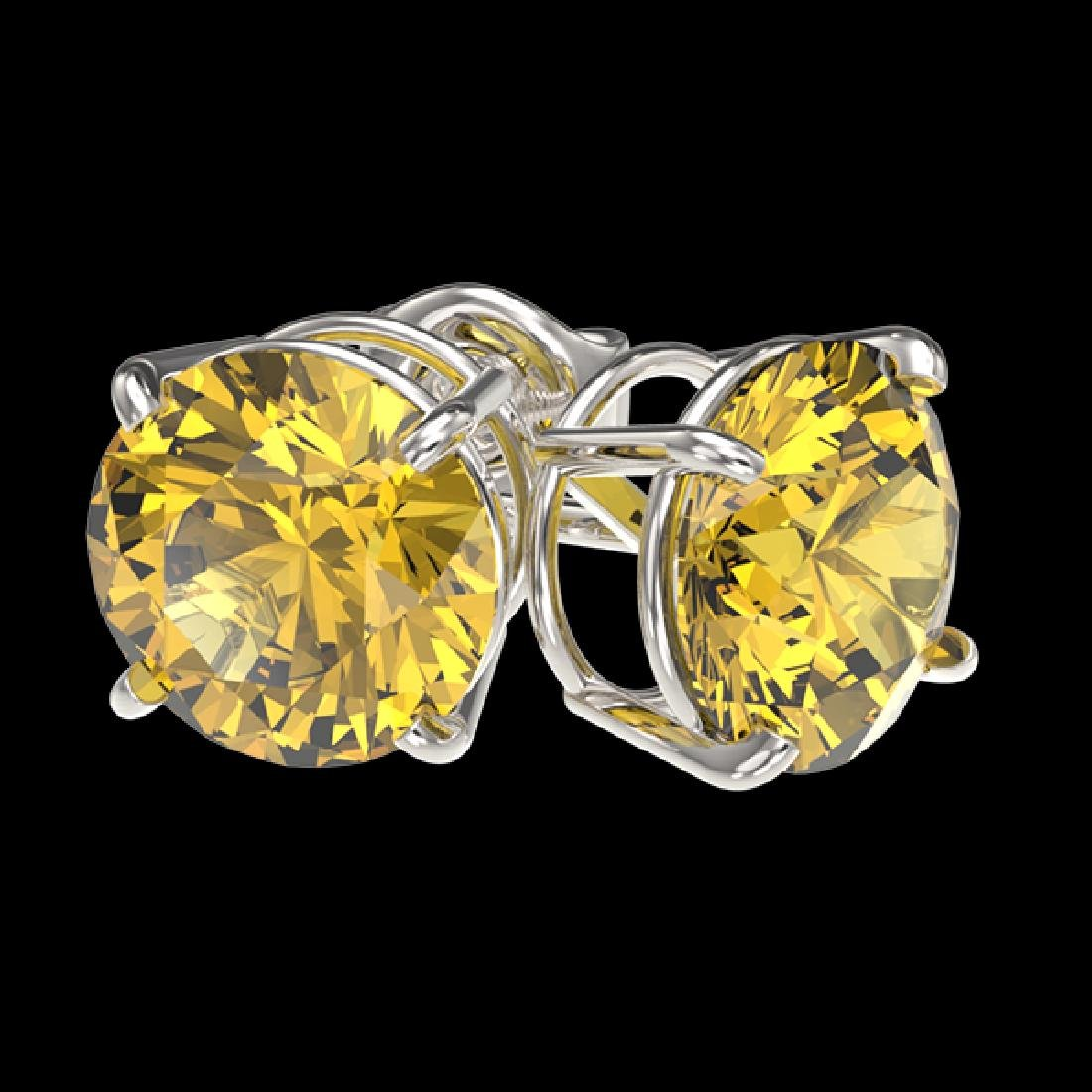 2.57 CTW Certified Intense Yellow SI Diamond Solitaire - 3