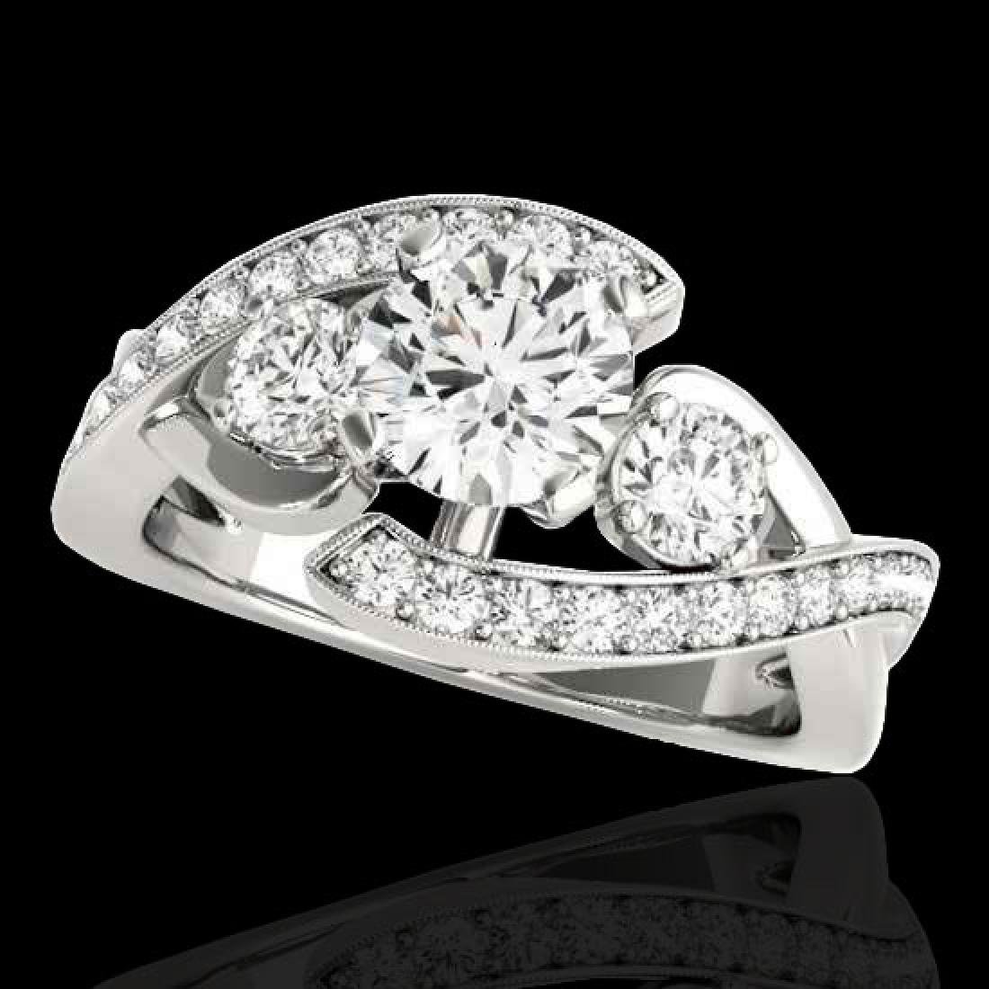 2.01 CTW H-SI/I Certified Diamond Bypass Solitaire Ring
