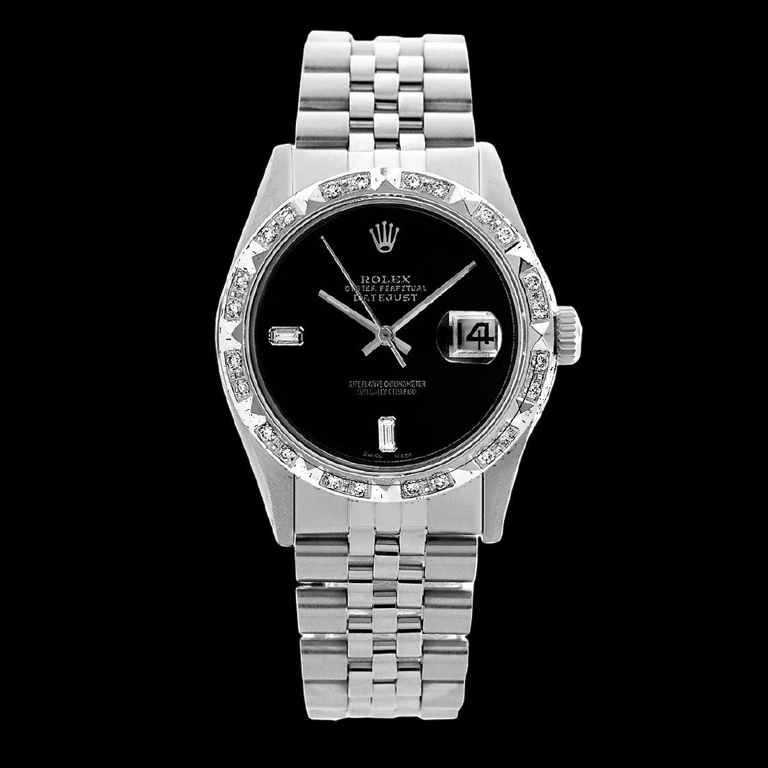 Rolex Ladies Stainless Steel, Diam Dial with Pyrimid - 2