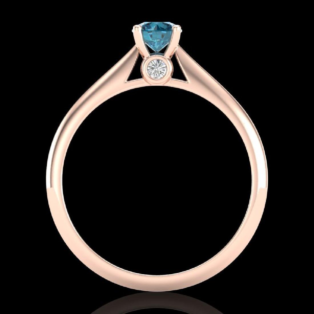 0.4 CTW Intense Blue Diamond Solitaire Engagement Art - 3