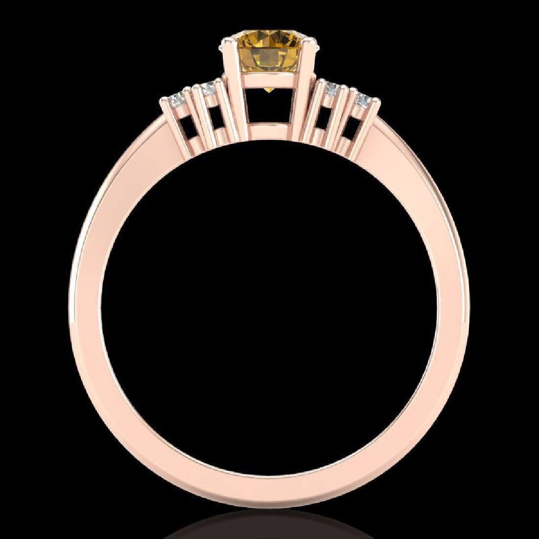 0.75 CTW Intense Fancy Yellow Diamond Engagement - 3