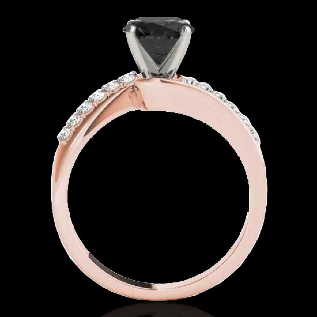 1.15 CTW Certified VS Black Diamond Bypass Solitaire - 2