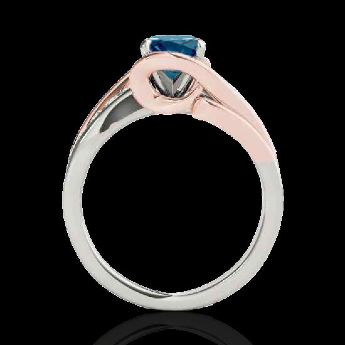1.5 CTW SI Certified Fancy Blue Diamond Bypass - 2