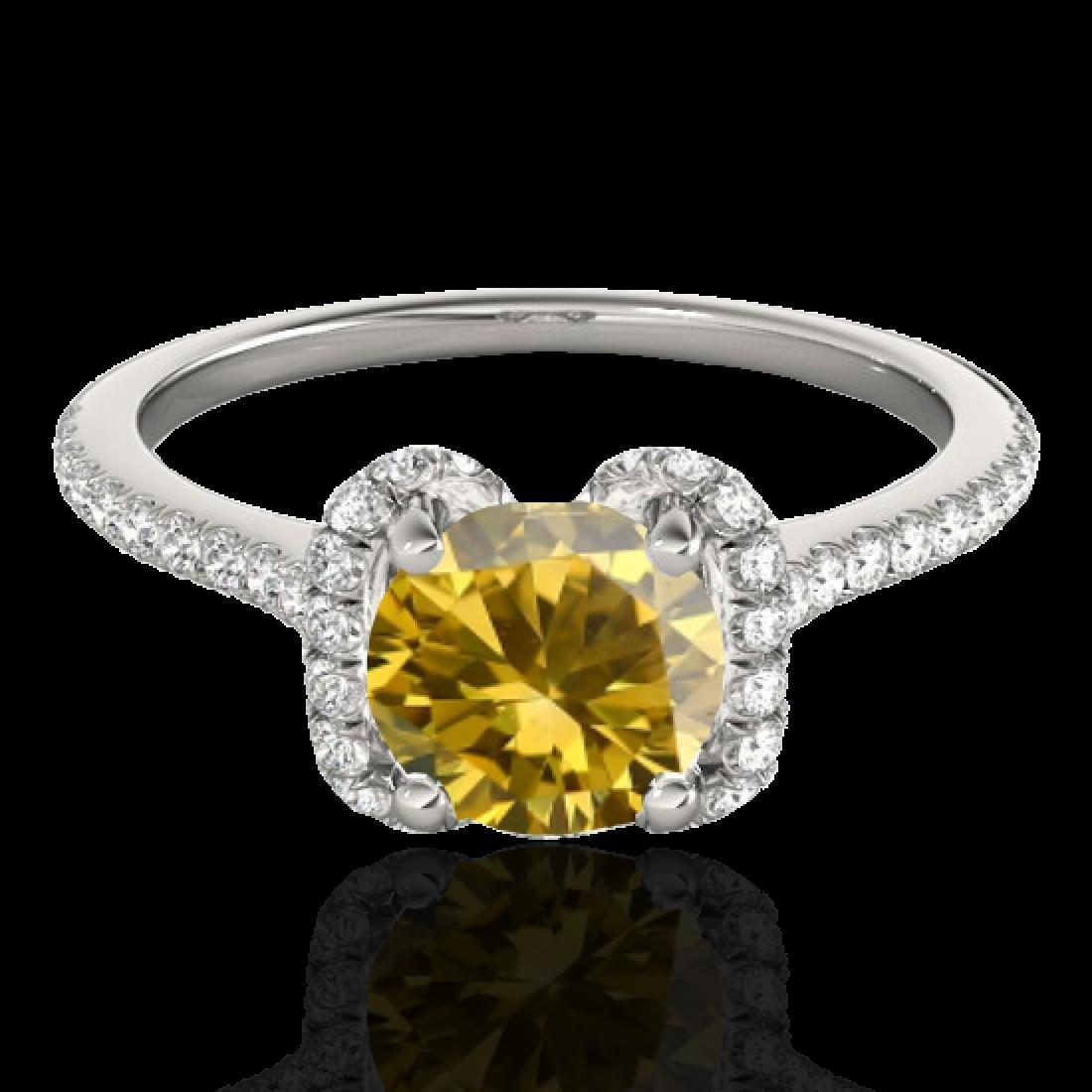 1.33 CTW Certified SI/I Fancy Intense Yellow Diamond