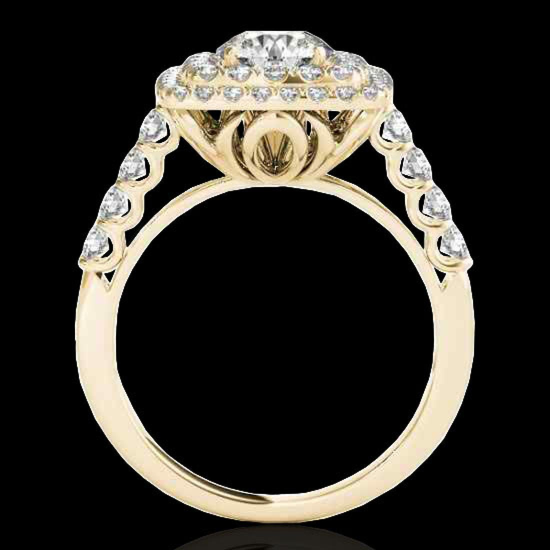 2.3 CTW H-SI/I Certified Diamond Solitaire Halo Ring - 2