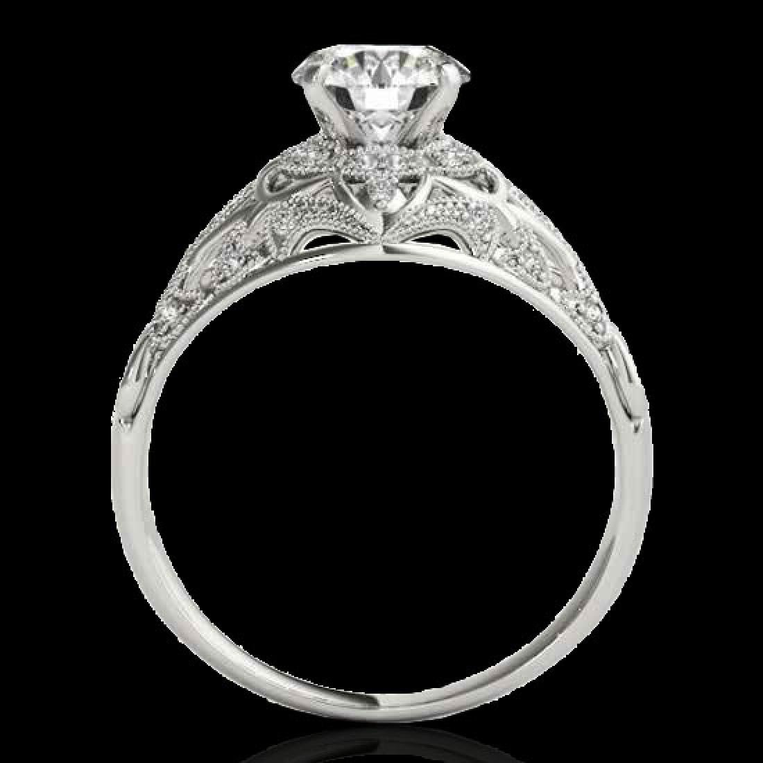 1.36 CTW H-SI/I Certified Diamond Solitaire Antique - 2