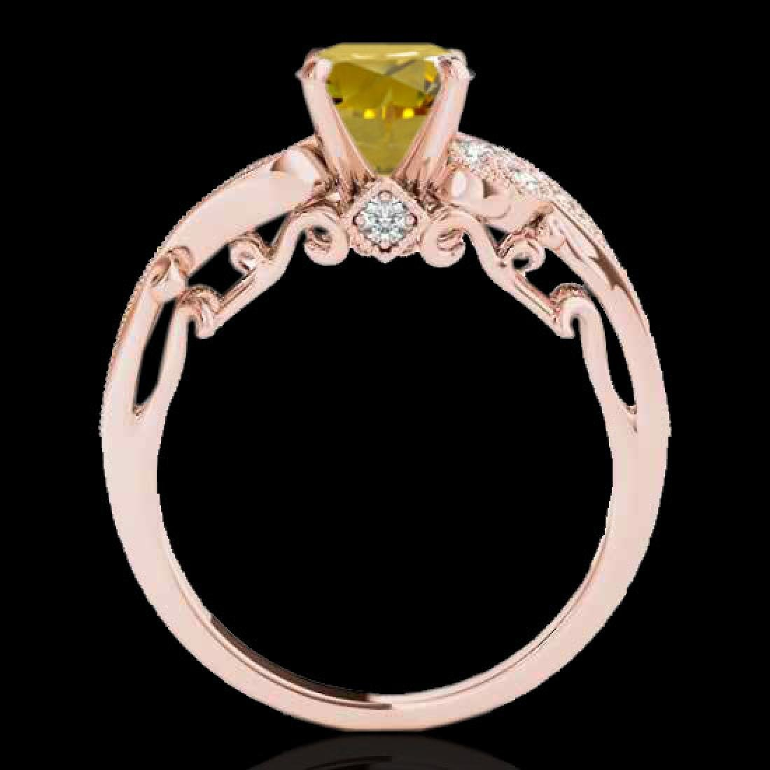 1.5 CTW Certified Si Intense Yellow Diamond Solitaire - 2