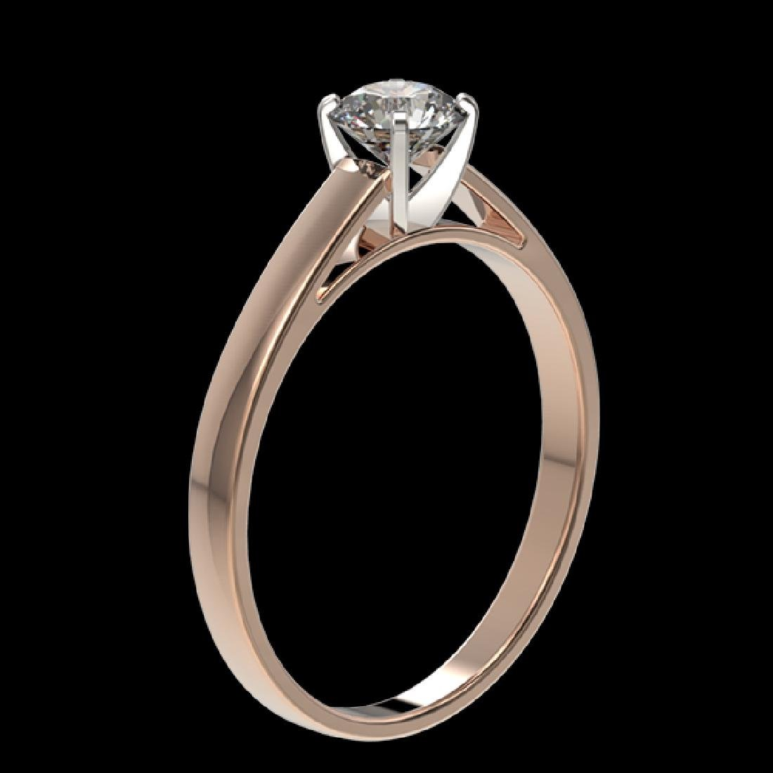 0.55 CTW Certified H-SI/I Quality Diamond Solitaire - 3
