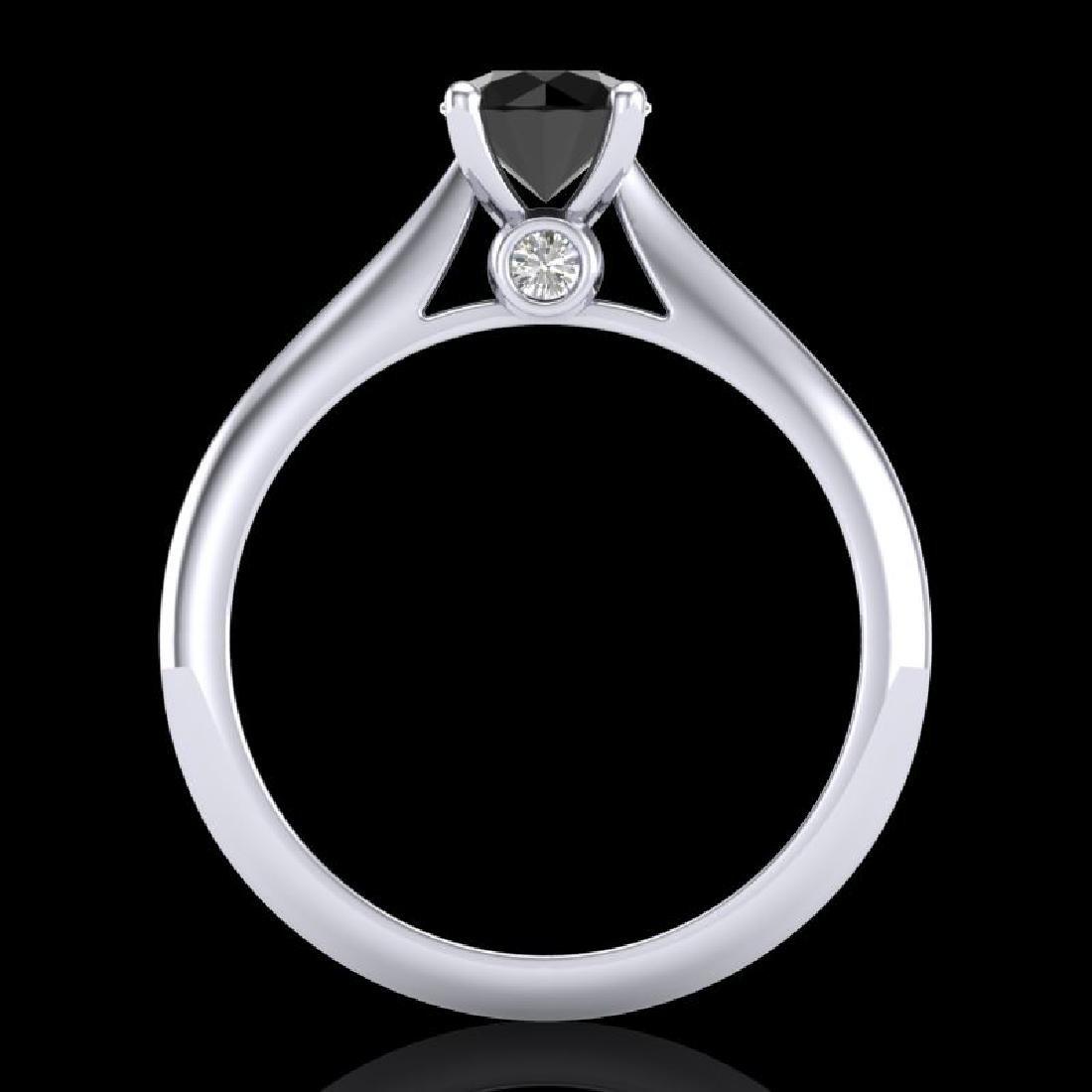 0.83 CTW Fancy Black Diamond Solitaire Engagement Art - 3