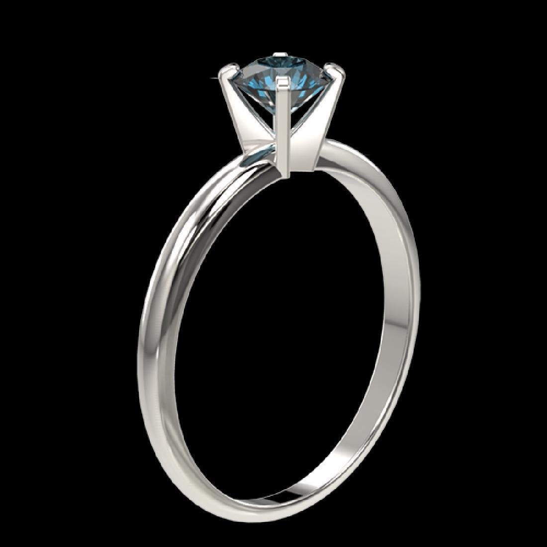 0.55 CTW Certified Intense Blue SI Diamond Solitaire - 3