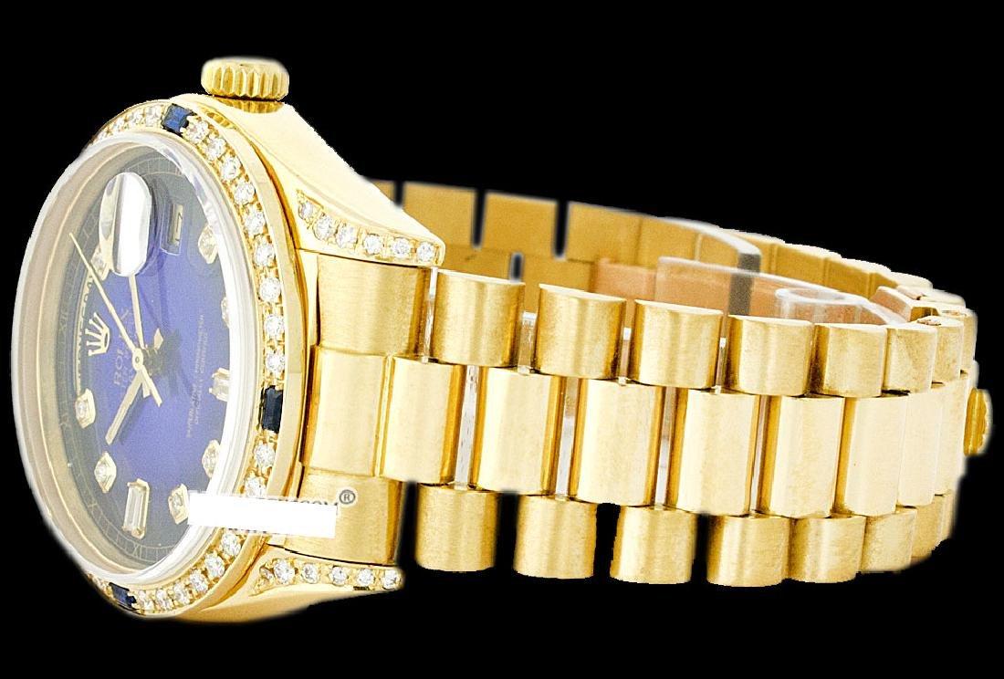 Rolex Men's 18K Yellow President, QuickSet, Diam Dial & - 3