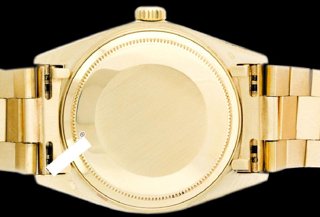 Rolex Men's 18K Yellow President, QuickSet, Diam Dial & - 4