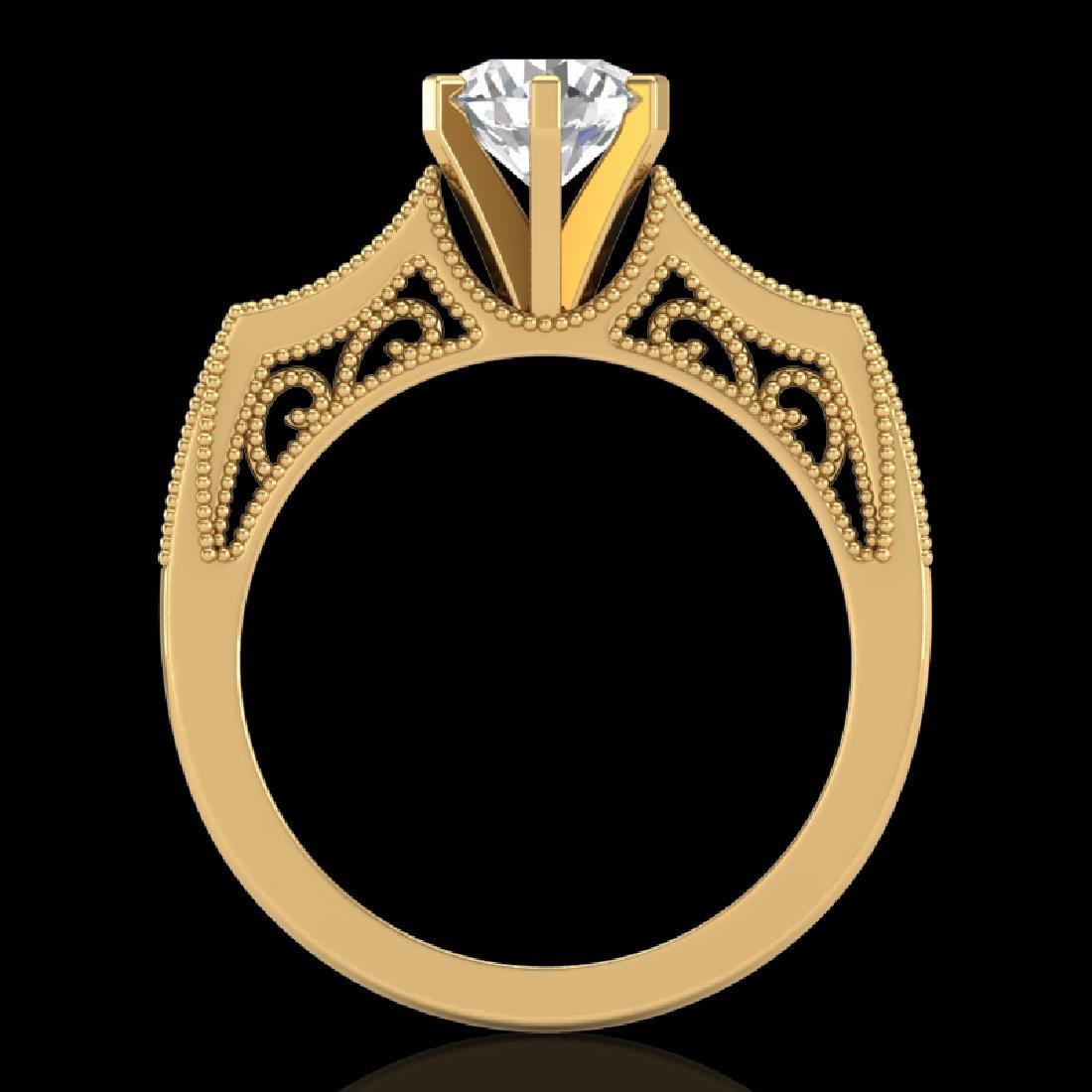 1.25 CTW VS/SI Diamond Art Deco Ring 18K Yellow Gold