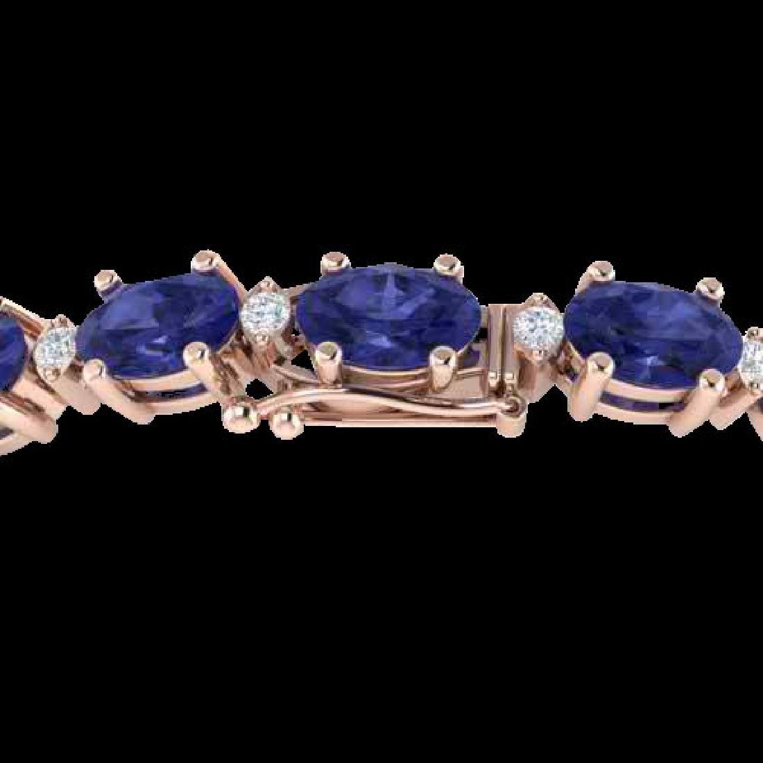 19.7 CTW Tanzanite & VS/SI Certified Diamond Eternity
