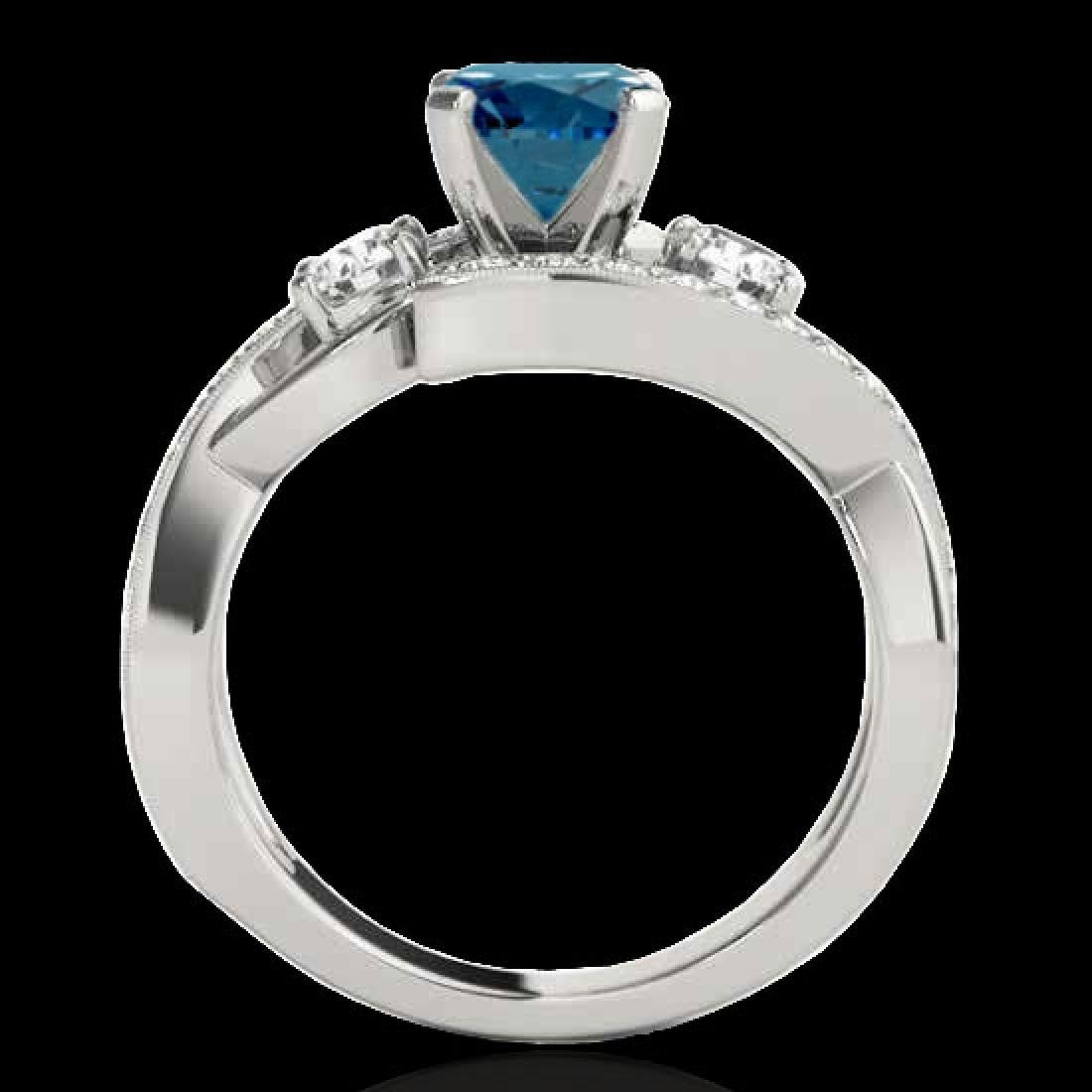 1.76 CTW SI Certified Fancy Blue Diamond Bypass - 2