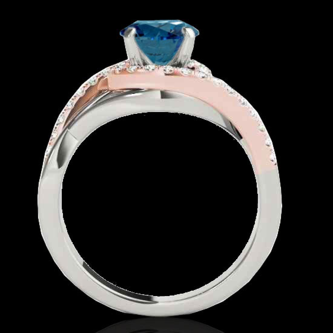 1.55 CTW SI Certified Fancy Blue Diamond Bypass - 2