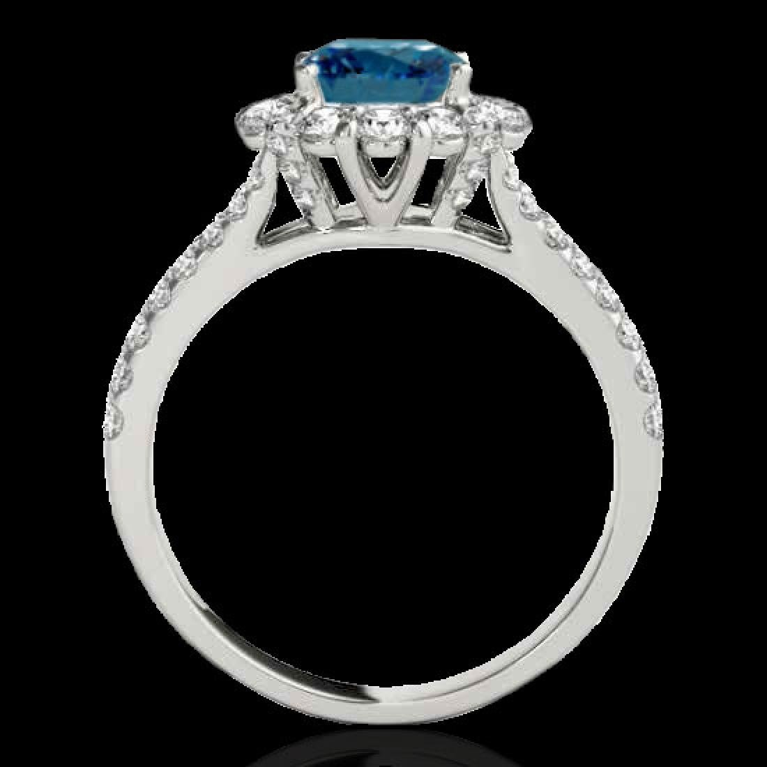 2.51 CTW SI Certified Fancy Blue Diamond Solitaire Halo - 2