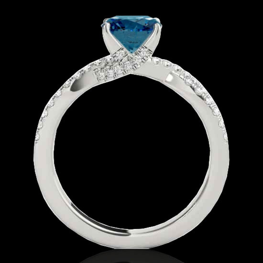 1.3 CTW SI Certified Fancy Blue Diamond Solitaire Ring - 2