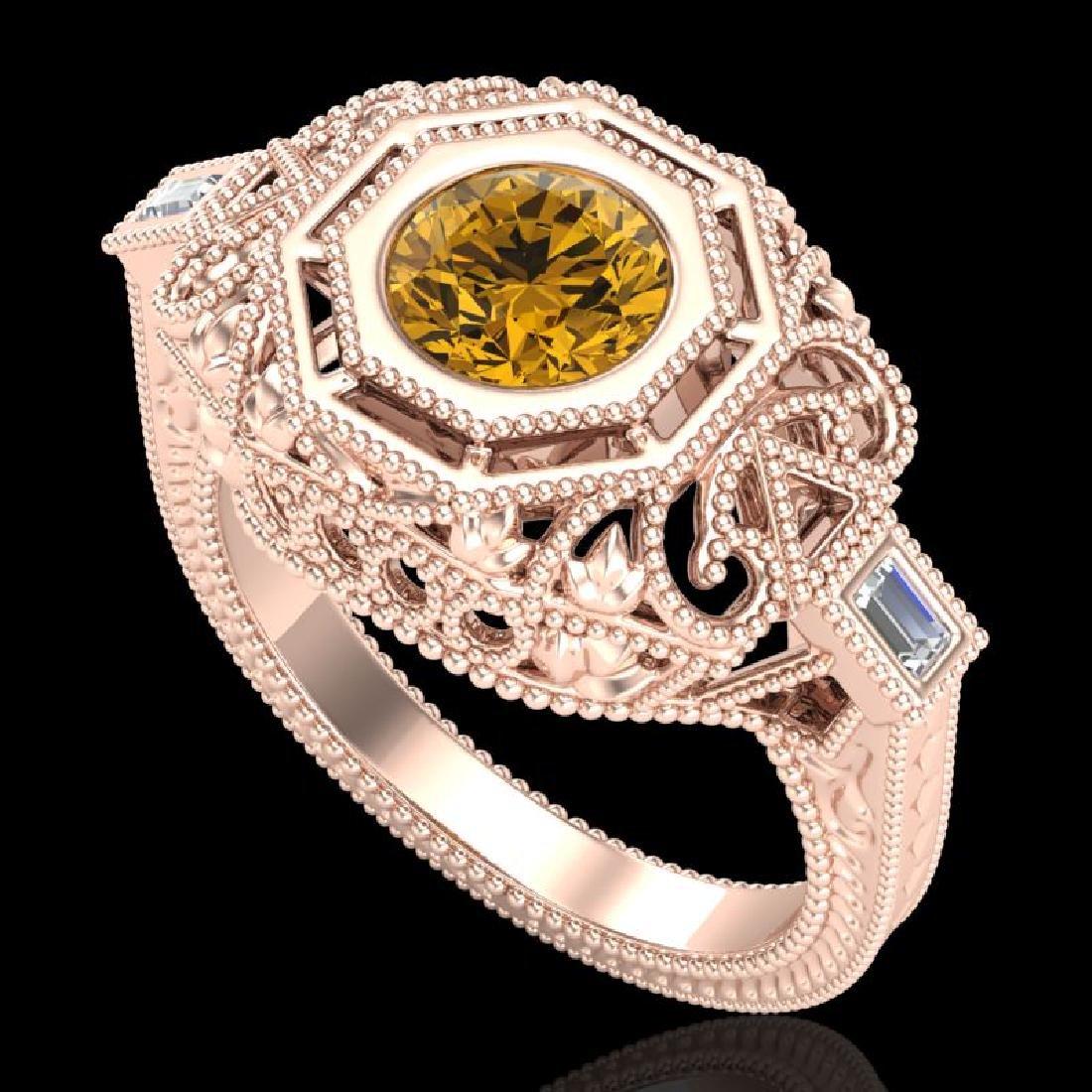 1.13 CTW Intense Fancy Yellow Diamond Engagement Art