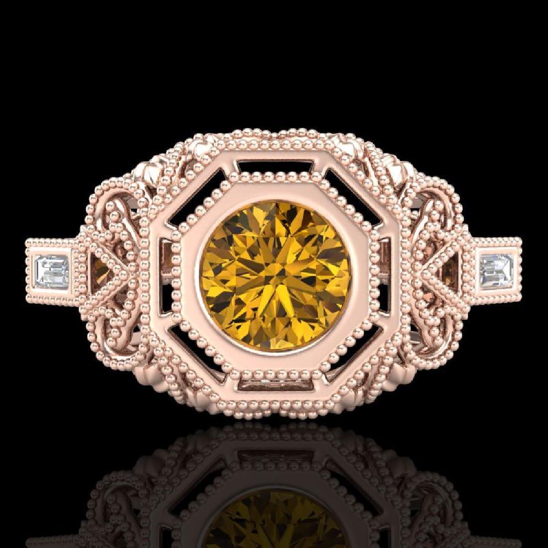 1.13 CTW Intense Fancy Yellow Diamond Engagement Art - 2