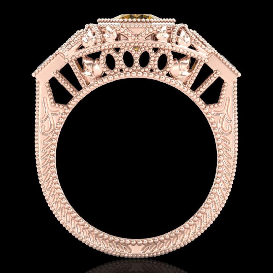 1.13 CTW Intense Fancy Yellow Diamond Engagement Art - 3