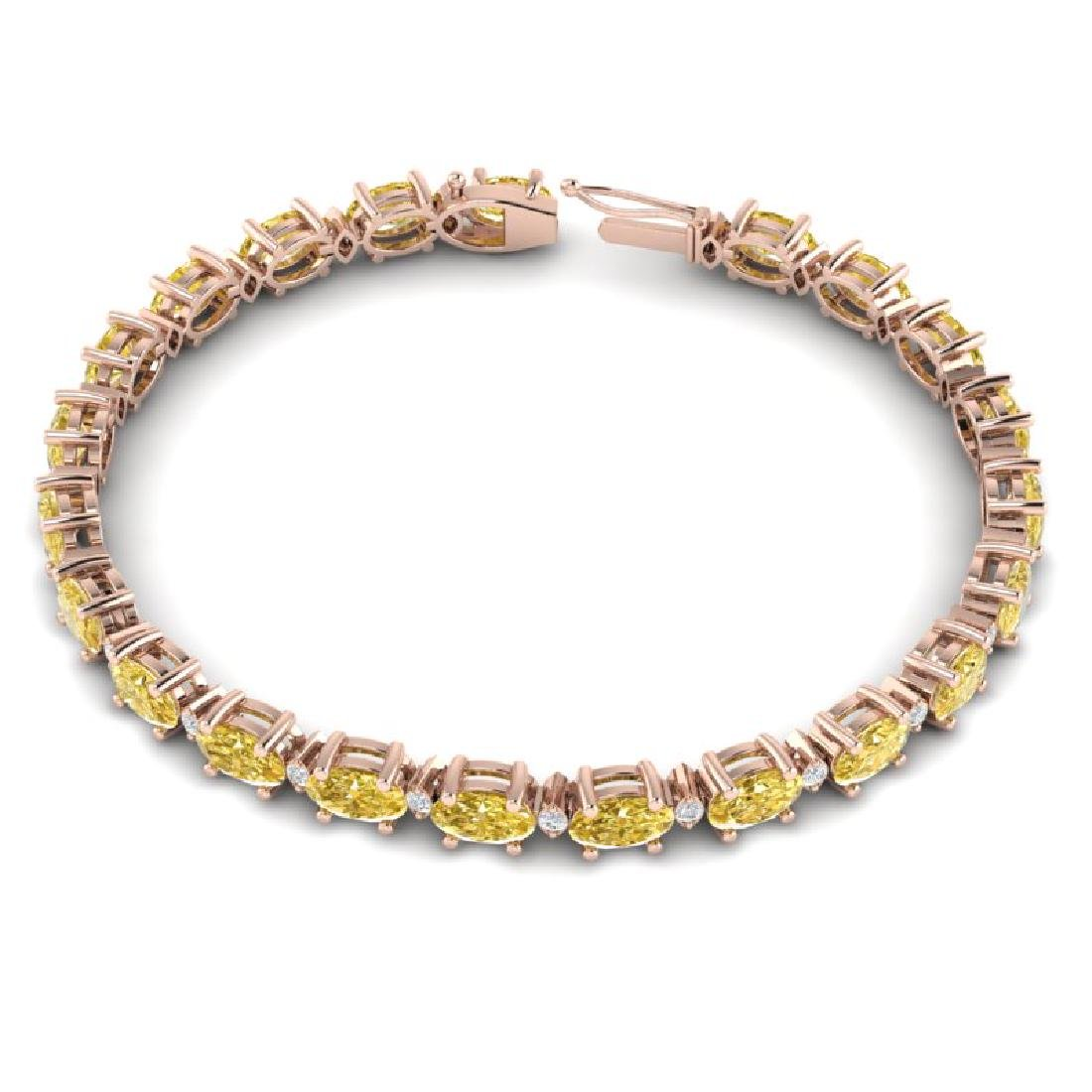12 CTW Citrine & VS/SI Diamond Eternity Bracelet 10K - 3