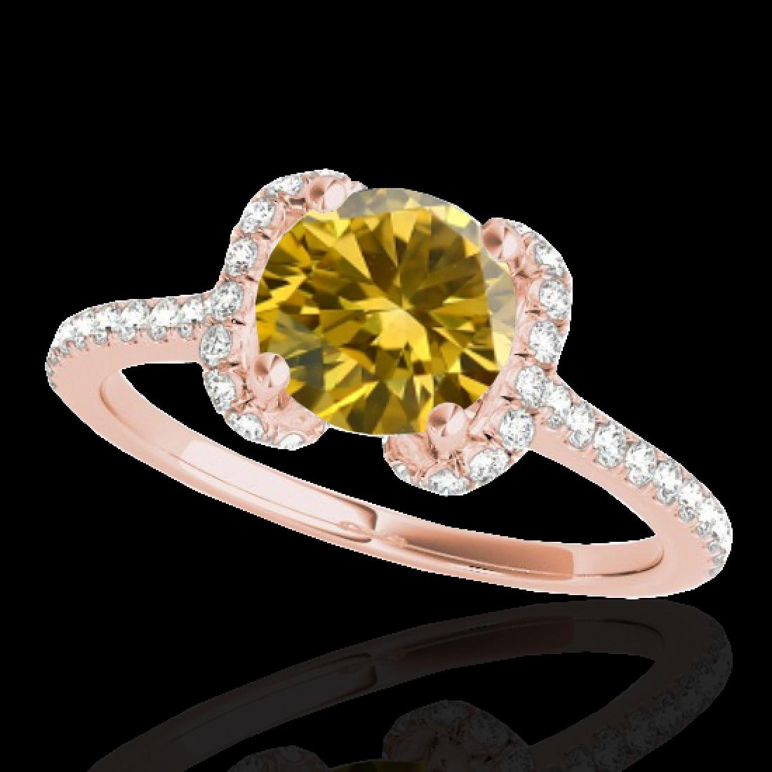1.33 CTW Certified SI/I Fancy Intense Yellow Diamond - 2