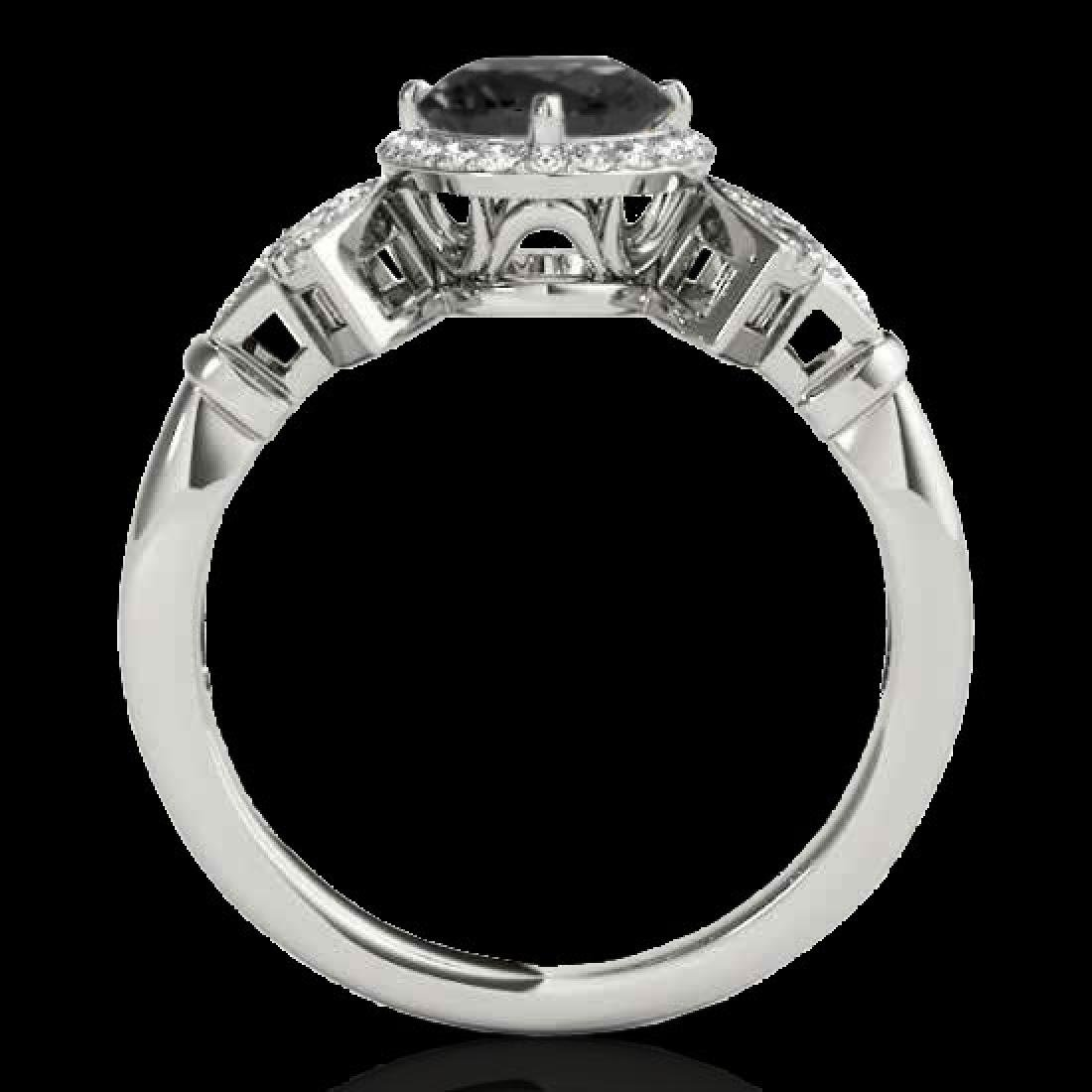 1.56 CTW Certified VS Black Diamond Solitaire Halo Ring - 2