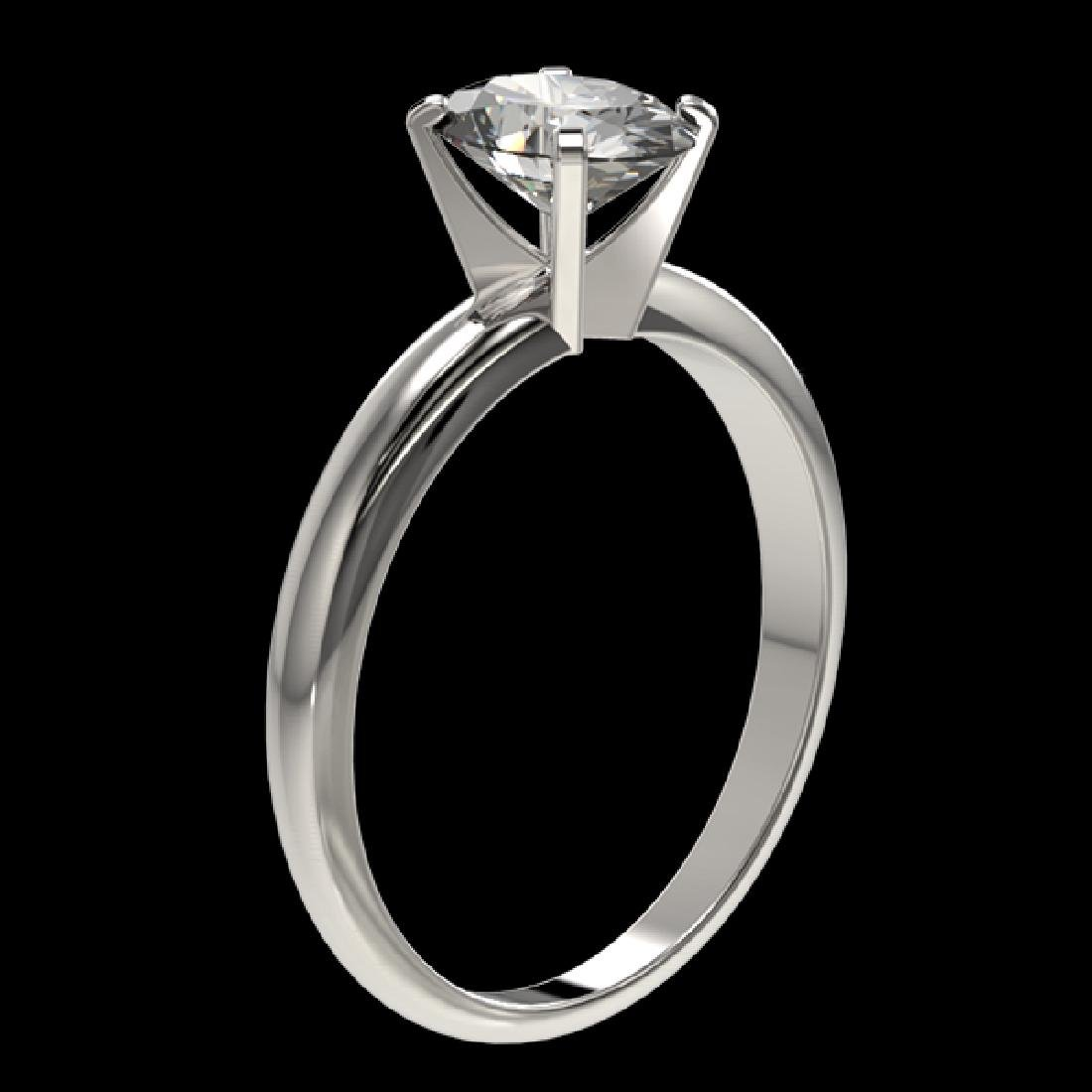 1.25 CTW Certified VS/SI Quality Oval Diamond Solitaire - 3