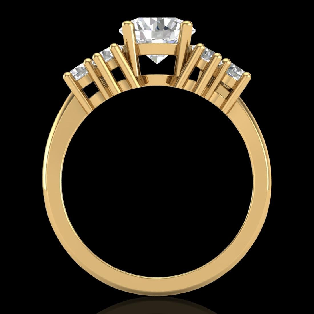2.1 CTW VS/SI Diamond Solitaire Ring 18K Yellow Gold