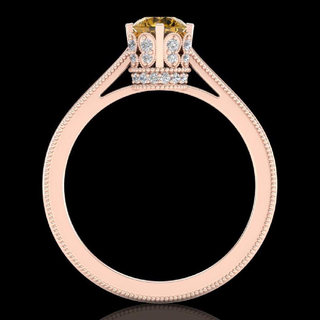 0.81 CTW Intense Fancy Yellow Diamond Engagement Art - 3