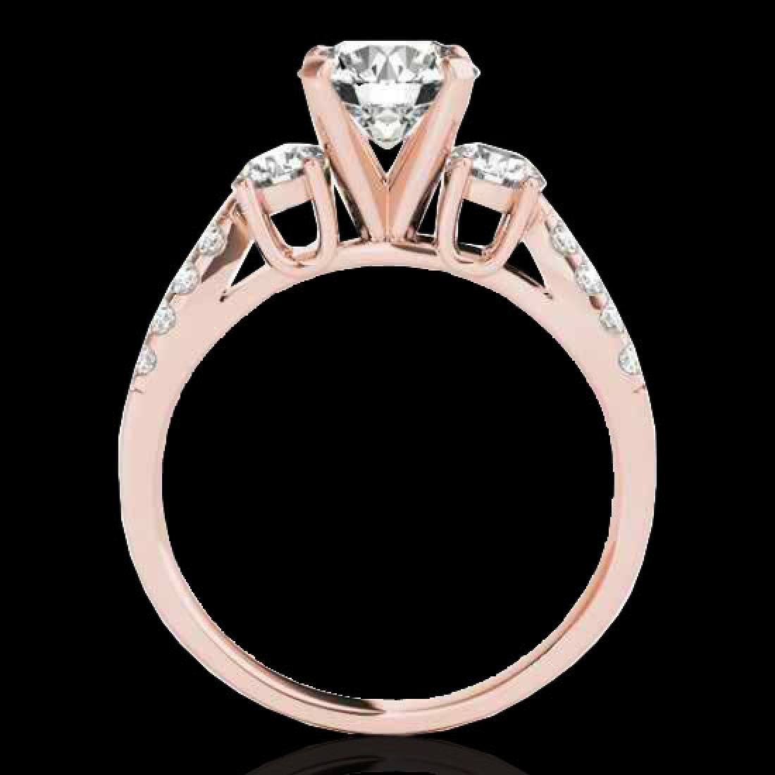 1.5 CTW H-SI/I Certified Diamond 3 Stone Solitaire Ring - 2