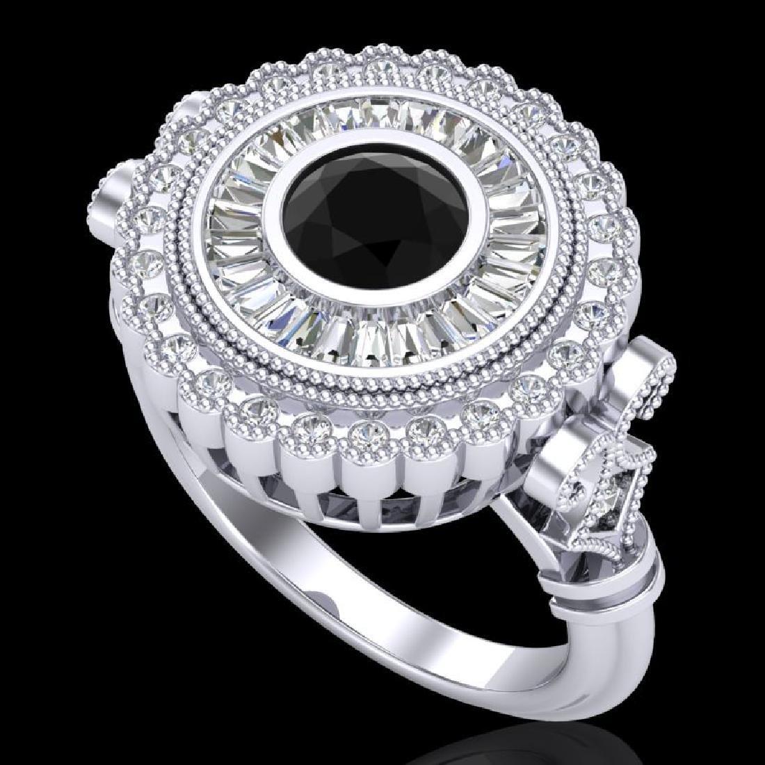 2.03 CTW Fancy Black Diamond Solitaire Engagement Art