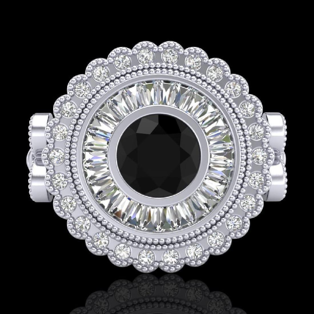 2.03 CTW Fancy Black Diamond Solitaire Engagement Art - 2